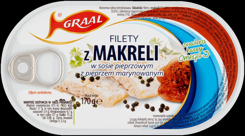 Filety z makreli w sosie pieprzowym z pieprzem marynowanym
